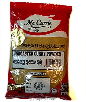 Mc Currie Unrosted Curry Powder 200g at Kapruka Online for Grocery