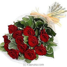 Bouquet Of 12 Red Rosesat Kapruka Online forintgift