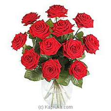 12 Luxury Red Rosesat Kapruka Online for intgift