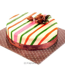 Marzipan Ribbon Cake(gmc) at Kapruka Online