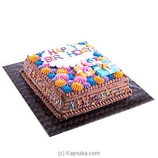 Happy Birthday Chocolate Cake -2lb(SHAPED CAKE) By Fab at Kapruka Online for cakes