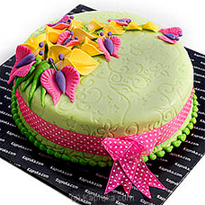 Blooms and Butterflies Ribbon Cakeat Kapruka Online for cakes