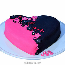 Irresistible Pink & Black Lovers Chocolate Cake at Kapruka Online