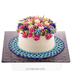 Rainbow Blooms Ribbon Cake at Kapruka Online
