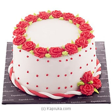 Lavish Rose Ribbon Cake at Kapruka Online