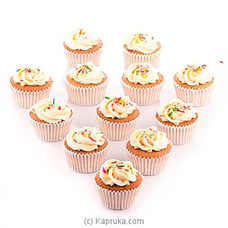Vanila Swril Cupcakes With Sprinkles  - 12 Peice Pack at Kapruka Online