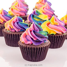 Rainbow Swirl Chocolate Cupcakes - 12 Pieceat Kapruka Online for cakes