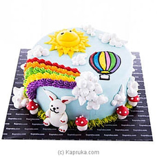 Rainbow Delight Ribbon Cake at Kapruka Online