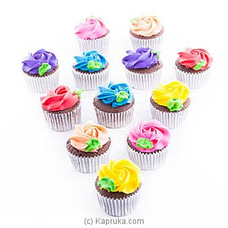 Garden Of Rainbow Cupcakes - 12 Piece at Kapruka Online