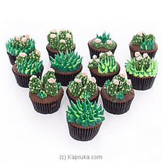 Cactus Lovers Cupcakes -12 Pieces CUPCAKE at Kapruka Online