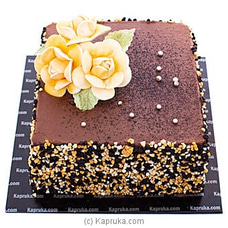 Yellow Blooms Chocolate Cake at Kapruka Online