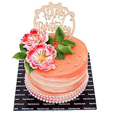 Happy Birthday Buds And Blooms Ribbon Cake BIRTHDAYCAKE at Kapruka Online