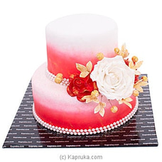 Fabulous Celebration Two Tier Ribbon Cake at Kapruka Online