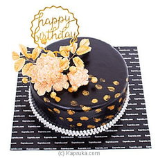 Happy Birthday Golden Touch Ribbon Cake at Kapruka Online