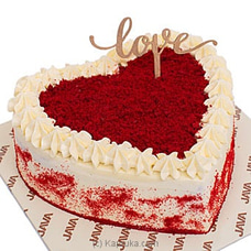 Java Red Velvet Cake With Cream Cheese Heart at Kapruka Online