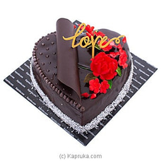 Heart Chocolate Gateau at Kapruka Online