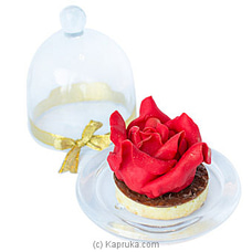 Shangri-La Marzipan Rose In Glass Dome Cakeat Kapruka Online for cakes
