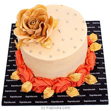 Golden Rose Ribbon Cake at Kapruka Online