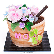 Mama`s Rose Pot Mother`s Day Ribbon Cakeat Kapruka Online for cakes