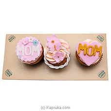 Green Cabin Mother`s Day Cup Cakes (3Pcs) By Green Cabin at Kapruka Online for cakes