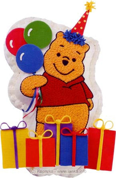 Fab - Pooh is Prepared to Party By Fab at Kapruka Online for cakes