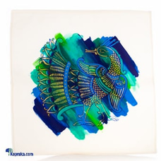 Hand Painted Peacock Cushion Cover at Kapruka Online