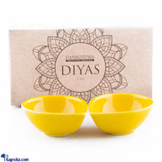 Single Colour Diya - Pack Of 2 (Yellow)at Kapruka Online for cross_border