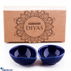 Single Colour Diya - Pack Of 2 (Blue)at Kapruka Online for cross_border