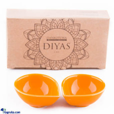 Single Colour Diya - Pack Of 2 (Orange)at Kapruka Online for cross_border