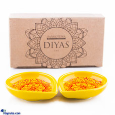 Design Based Diya - Pack Of 2 (Yellow)at Kapruka Online for cross_border