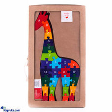 Wooden Giraffe A-Z Educational Puzzle Toyat Kapruka Online for cross_border