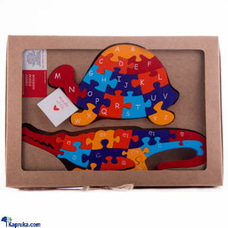 Tortoise & Crocodile Wooden Animal Puzzle Educational Toyat Kapruka Online for cross_border