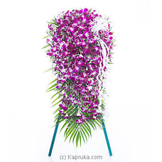 Orchid Stand Wreath ORCHIDS,FUNERAL at Kapruka Online