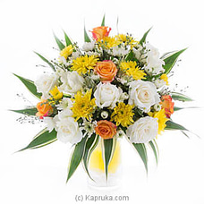 Yellow & White Sympathy Flowers By Flower Republic at Kapruka Online for flowers