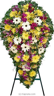 Funeral Wreath - F With Stand By Flower Republic at Kapruka Online for flowers