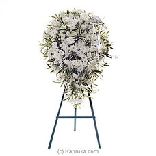 Funeral Wreath - M With Standat Kapruka Online for flowers