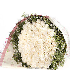 100 White Rose Bouquet By Flower Republic at Kapruka Online for flowers