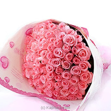 100 Pink Rose Bouquet at Kapruka Online
