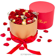 Radiance In Ferrero Blooms- Mix Of Red Roses And Ferrero Rocher By Flower Republic at Kapruka Online for flowers