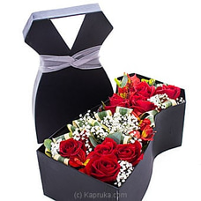 Dressed In Red Roses- Mix Of Sandriyana Gold And Red Roses By Flower Republic at Kapruka Online for flowers