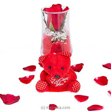 Revealing Dreams- A Red Rose In A Wine Glass By Flower Republic at Kapruka Online for flowers