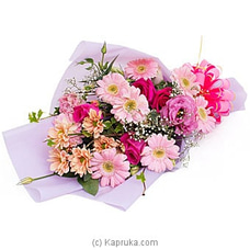 Crystal Streams- Mix Of Lisianthus, Chrysanthemums, Pink Roses, Gerberas By Flower Republic at Kapruka Online for flowers