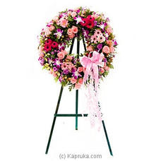 Funeral Wreath - A with Stand By Flower Republic at Kapruka Online for flowers