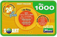 Rs 1000 Mobitel Prepaid Phone Card at Kapruka Online