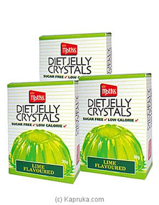 3 Pack Of Motha Lime Diet Jelly Crystal pkts - 90g By Motha at Kapruka Online for specialGifts