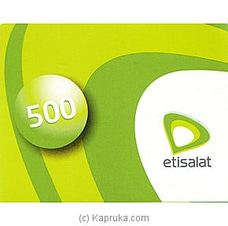Rs 500 Etisalat Prepaid Phone Card at Kapruka Online