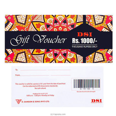 RS.1000.00 DSI Gift Voucher at Kapruka Online