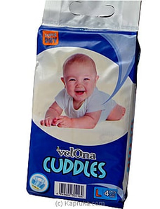 Velona Cuddles Diaper 4 Pack (L)- Age 2- 3 By FIRST SMILE at Kapruka Online for specialGifts