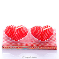 Double Hearts Candle at Kapruka Online