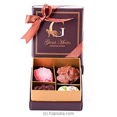 4 Piece Chocolate Box (Paperboard)(GMC) By GMC at Kapruka Online for specialGifts